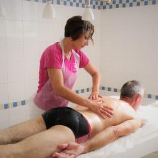Kiné massage sous eau
