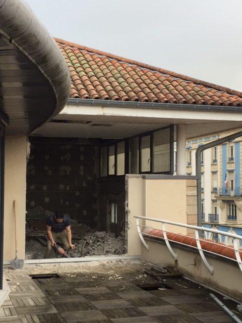 démolition terrasse rénovation